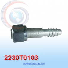 """FITTING UNIVERSAL O-RING # 06 (5/16"""") RECTO T/ACERO IMP"""